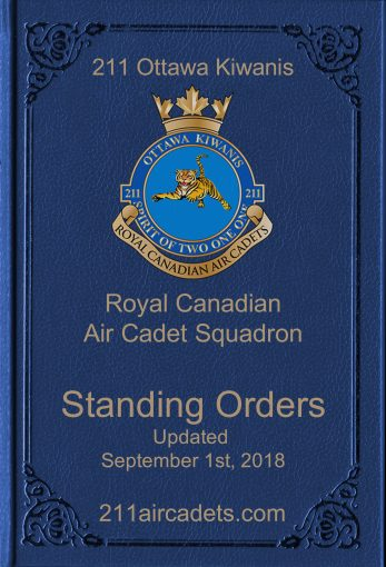 211 Standing Orders - Updated September 1st, 2018