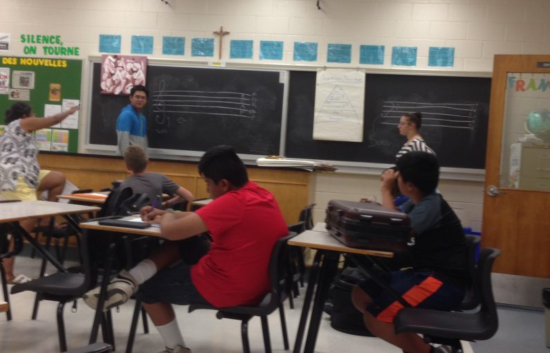 211 Air Cadets learning music theory