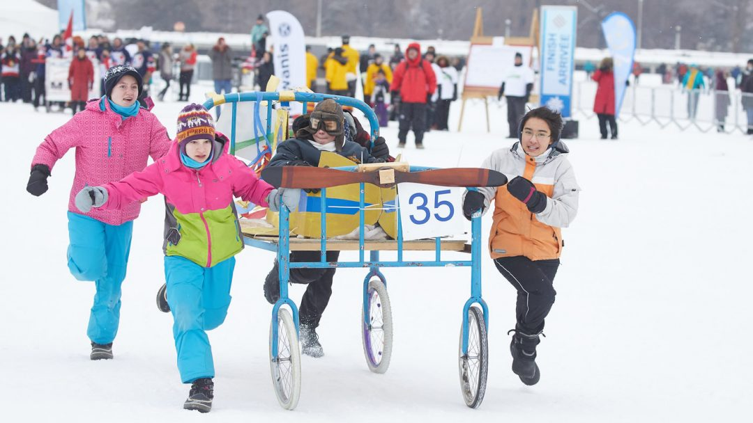 211 Air Cadet Sqadron Bed Race On Rideau Canal