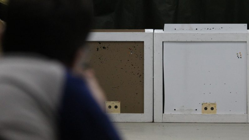 Closeup of Target Shooting