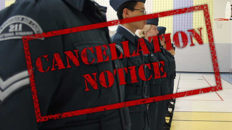 Cancellation Notice – Drill Team 20190319