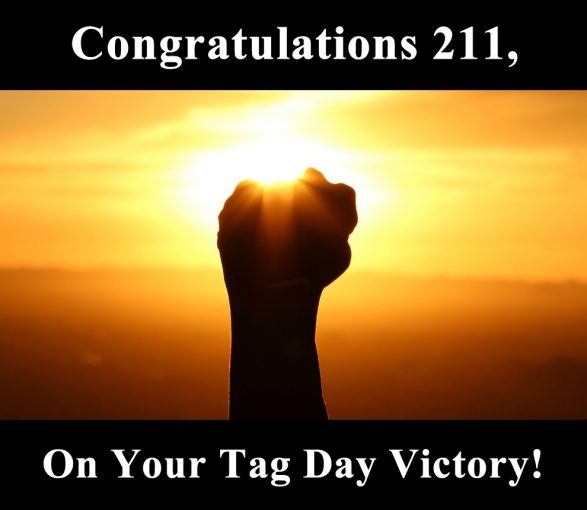 Tag Day Victory – Thank you!