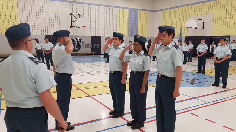 Cadets Receiving Promotions