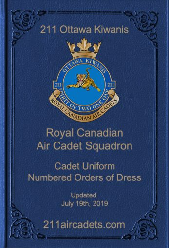 Air Cadet Numbered Orders of Dress